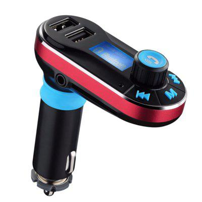 BT66 Bluetooth Car Hands-Free MP3 With Dual USB Charging Player Card Jack Car