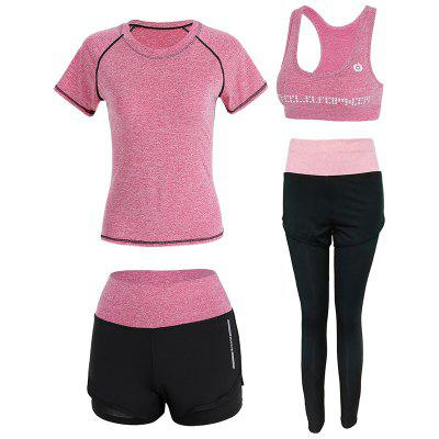 4 Pcs Women's Sports Set Clothing