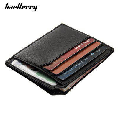 Baellerry  PU Leather Convenient ID Pocket  Card Holder