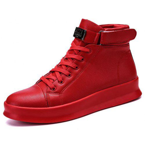 Big Red Is Popular with Men'S Ankle Boots