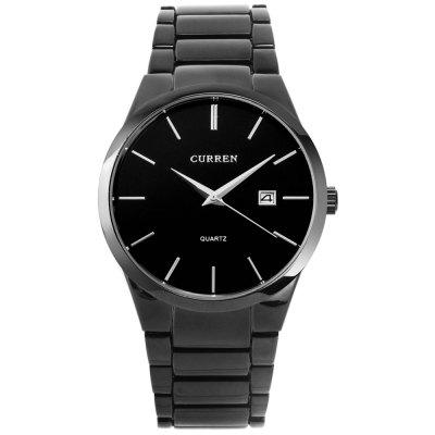 Watch curren 8106 men's calendar steel belt watch