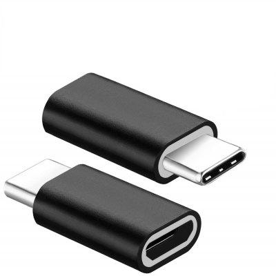2PCS USB C Type-C to Micro USB Data Charging Aluminum Alloy Adapters Converters