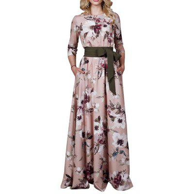 Long Dress Women   Floral Print Female Evening Party Maxi Dress