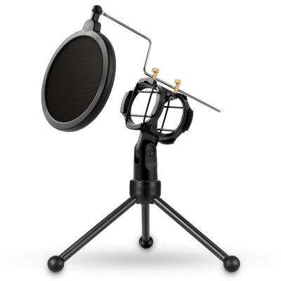 Yanmai PS-3 top selling microphone holder tripod stand with pop filter