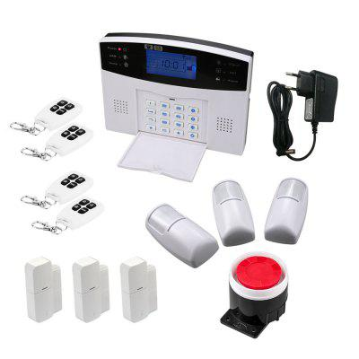 Wireless Home Security GSM Alarm System Intercom Remote Control Autodial Siren