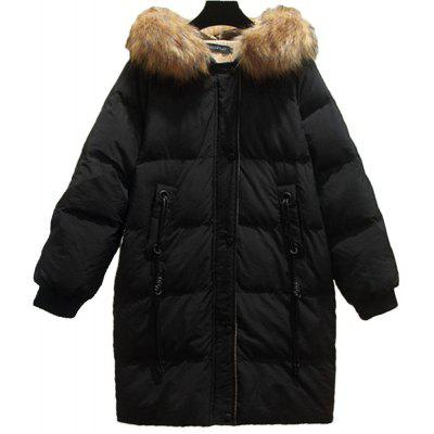 Women's Plus Size Loose Quilted Coat