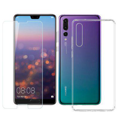 Mrnorthjoe 2 in 1 Tempered Glass Film and TPU Case for Huawei P20 Pro  - buy with discount