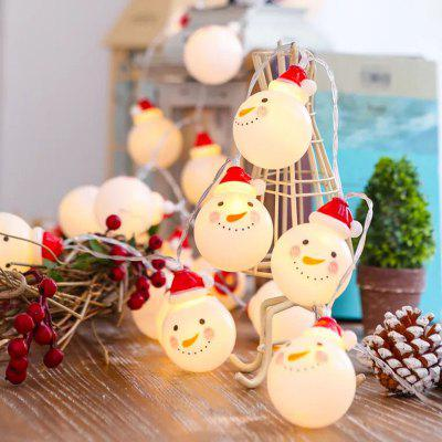 1.5M Christmas String Lights Christmas Lights Decorations Sneeuwpop 10 LED-verlichting