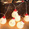 1.5M Christmas String Lights Christmas Lights Decorations Snowman 10 LED Lights - WARM WHITE