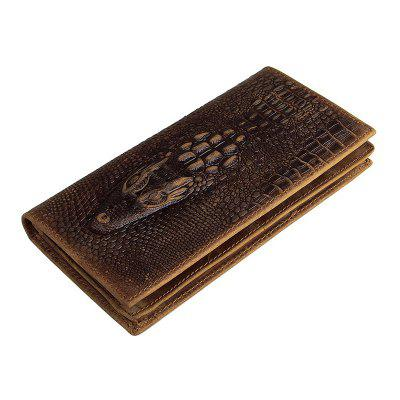 Crazy Horse Leather Long Wallet for Men