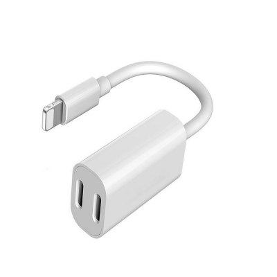 2 in 1 Adapter Headphone Jack and Charger Adapter for iPhone/ support for iOS 11