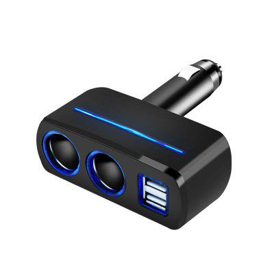 Car Smoke LED Lighter Socket Splitter 3.1A Dual USB Charger Power Adapter