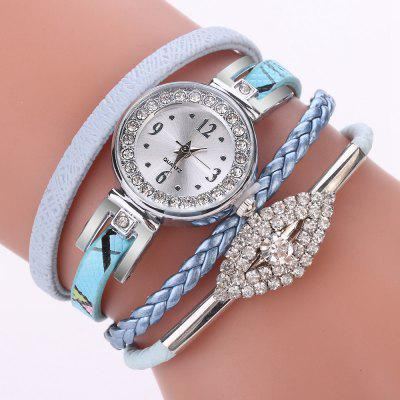 XR2741 Small Floral Bracelet with Diamond Accessories Women'S Watch