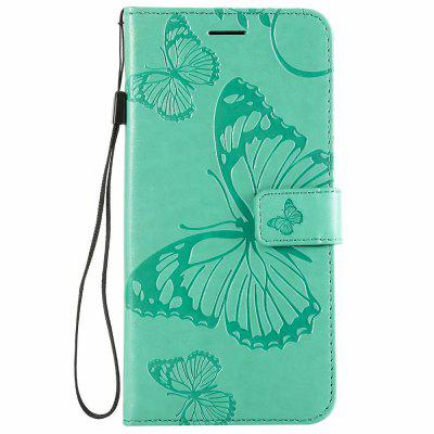 Butterfly Emboss PU Leather Case For Xiaomi Redmi Note 6 Pro Stand Wallet Cover