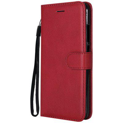 Plain PU Leather Case For Xiaomi Mi 5X Stand Wallet Cover With Card Holder