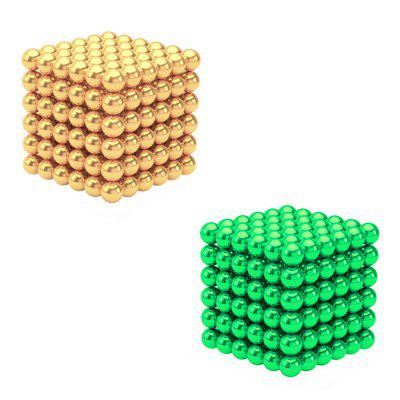 432Pcs 3mm DIY Multicolor Magnetic Balls Sphere Beads Magnet Cube Toy Gift