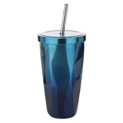 Diamond gradient straw stainless steel insulation cup
