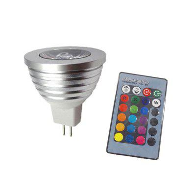 3W MR16 RGB Bombilla LED Control remoto Color cambiante Proyector AC DC 12V