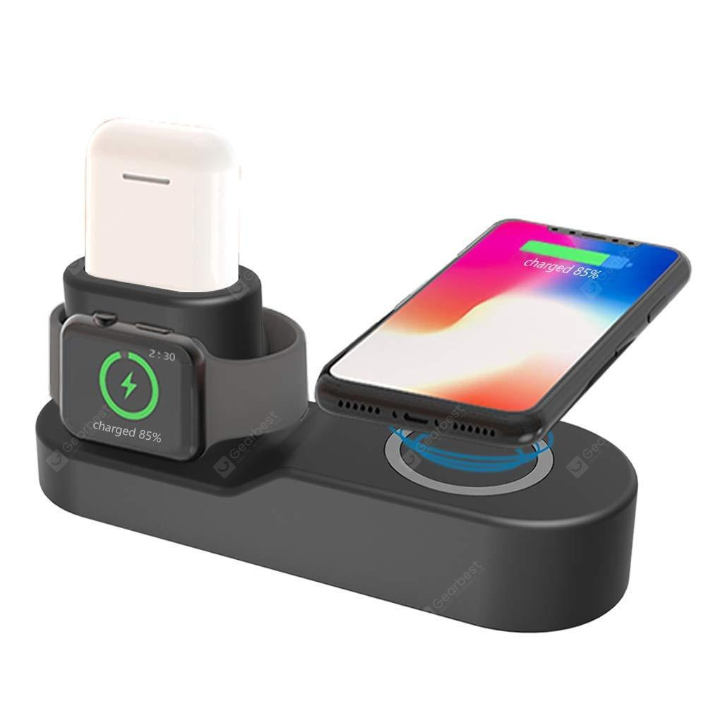 finest selection cc45c 341f8 4 in 1 Qi Wireless Charger Station for Apple Watch 4/3/2 IPhone X/8 Plus  AirPods