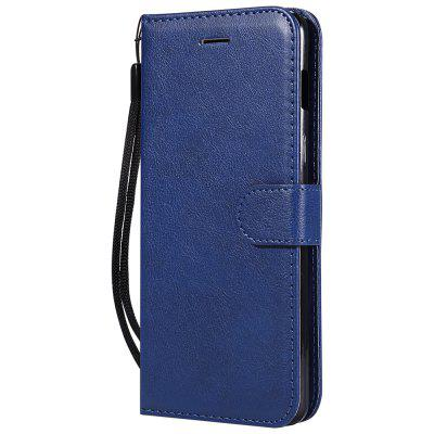 Stand Wallet Protective Case For Oneplus 6 Six Plain PU Leather Phone Cover