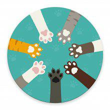 Colorful Cat PAWS Anti-Skid Rubber Mouse Pads
