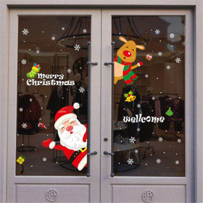 Wall Stickers Christmas Removable Wall Sticker Adornment Wall Glass Window Decor