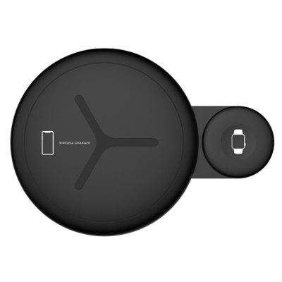 2 in 1 Wireless Charger Pad Stand for  Apple Watch / iPhone / Samsung Galaxy