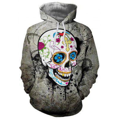 Fashion New Hot Men'S Clothing Flower Hooded Hoodie