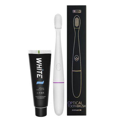 Anjiela Blue Light Toothbrush and Toothpaste for Teeth Whitening