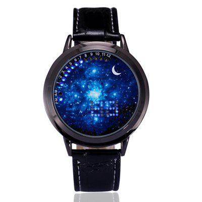 New LED Touch Men's Fashion Casual Trend Personalized Luminous Watch