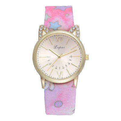 Lvpai P807 Pastoral Style Casual Watch Cute Girl Watch Wild Print Wrist Watch