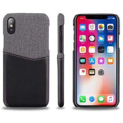 Y-Leather Patchwork Card Phone Case for IphoneX/IphoneXS