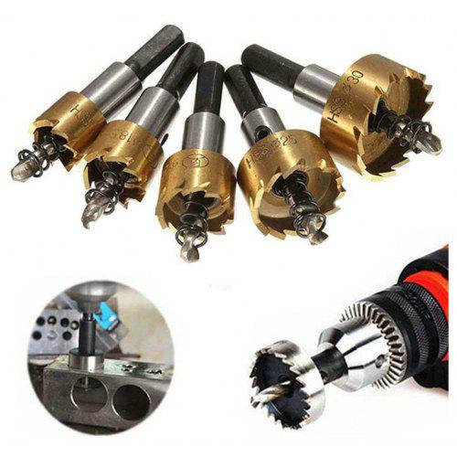 5PCS Professional Tipped Twist Metal Plate Tooth Drill Bit Hole Saw Plate Cutter