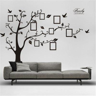 Large Black 3D DIY Photo Tree PVC Wall Decals/Adhesive Family Wall Stickers