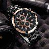 CURREN  Stainless Steel Strap Fashion Men'S Quartz Watch - JET BLACK