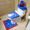 Christmas with Hand Geborduurde Christmas Snowman Toilet Set - MULTI-A