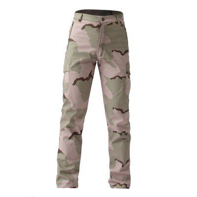 ESDY Soft Shell Pants Waterproof Outdoor Camouflage Men Trousers