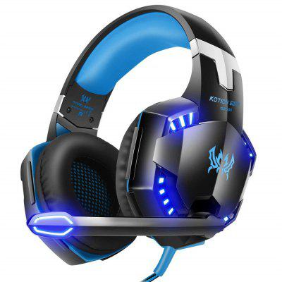 KOTION EACH G2000 Over-ear Gaming Headset with Mic Stereo Bass LED Light for PC