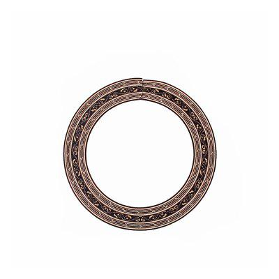 Classical Guitar Wood Inlaid Soundhole Rosette Inner Dia 88mm