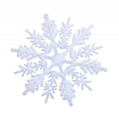 30pcs11cm Christmas Ornament White Plastic Christmas Snowflake Tree Window