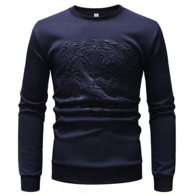 Men's Fashion Sweater Tiger Head Hot Stamping