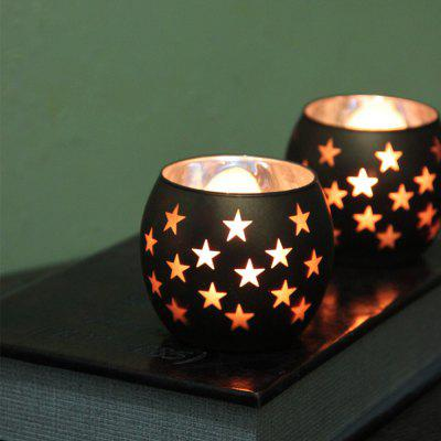 Star Pattern Glass Candle Holder Wedding Party Proposal Bar Decoraties