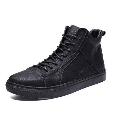 Mens Four Seasons Leather High Shoes