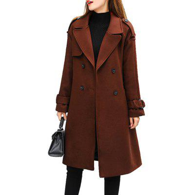 Long Slim Fitting Woolen Coat