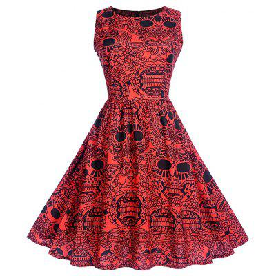 Hepburn Style Dress with A Sleeveless Dress for Christmas
