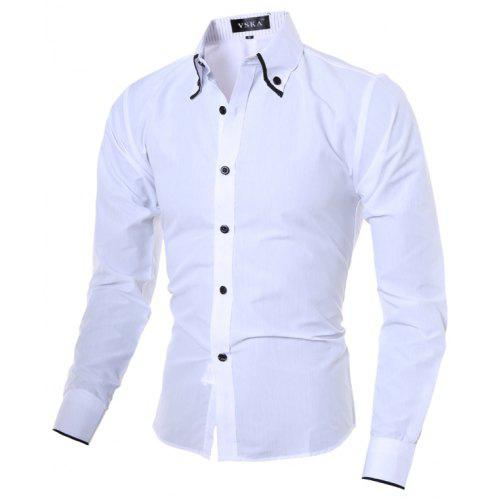 489983cef60 New Fashion Stripe Lining Men s Casual Long Sleeved Shirt