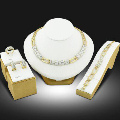 Gold Color Jewelry Sets Multicolor Vintage Jewellery Set for Women Wedding Gift