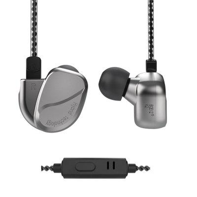 BQEYZ K2 Earphones Quad Drivers Earbuds 0.78mm Removable Cable with Stereo Mic