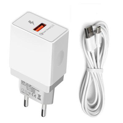 QC3.0 Quick Charge Wall Type C Fast Charger  for Xiaomi 8 F1 6 Mix 2