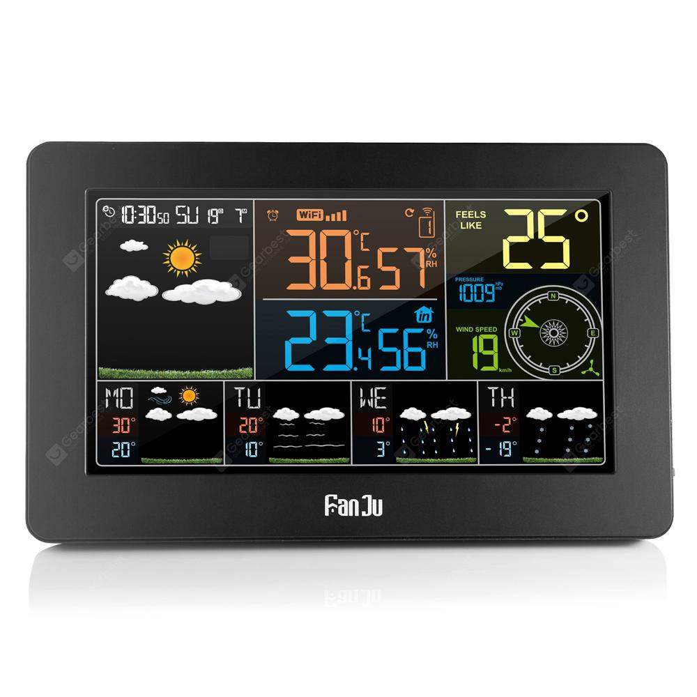 FanJu FJW4 Color Wi Fi Weather Station with APP Control / Smart Weather Clock